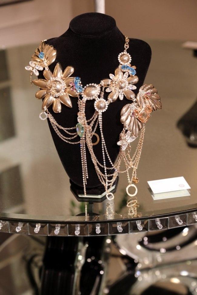MUNICH, GERMANY - NOVEMBER 02: Swarovski jewelry designes by Turmalino Durando, presented during the Swarovski World Jewelry Facets exhibition at Villa Wagner on November 2, 2016 in Munich, Germany. (Photo by Gisela Schober/Getty Images for Swarovski)